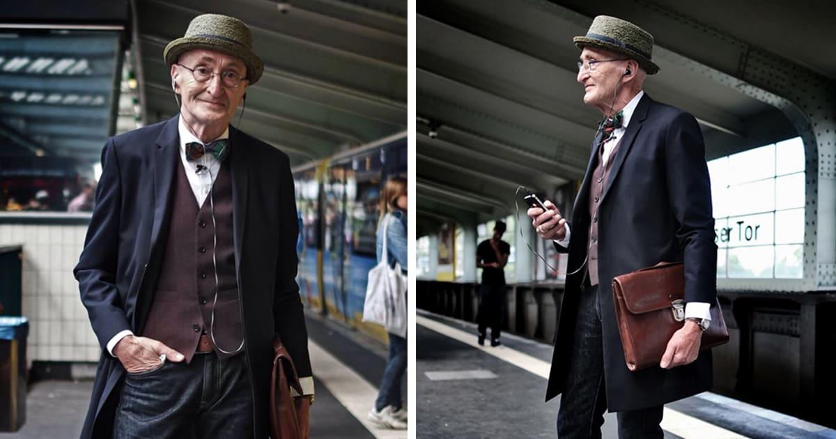 האיש הזה בן 104 ויש לו הרבה יותר סטייל מכל אחד מכם!